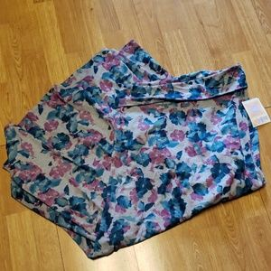 NWT XL LulaRoe maxi skirt gray w/purple/teal
